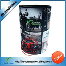 Beer can holder foam with sublimation print