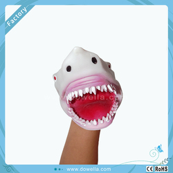 funny dinosaur Hand puppet, TPR hand puppet figure toy