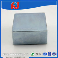 super strong block neodymium permanent magnets zinc coat