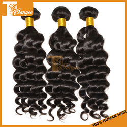 6A Grade Unprocessed Best Quality Black Remy Ocean Tropic Loose Deep Wave Hair Weave Virgin Brazilian Wavy Hair Extensions