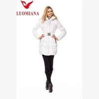 fashion leisure ladies winter jacket long coat white