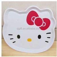Hello Kitty lovely head shaped fruit plate tray