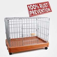 large dog crate FC-2202P folding storage crate Petwant with optional wheels and food tray