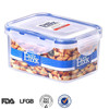 China Wholesale Good Sealing Food Packing Box:Rectangular BPA Free PP Plastic Clear Food Container with Lid 500ML/16oz