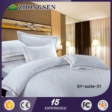 100% cotton hot sale embroidery baby crib luxury hotel bedding for presidential suite