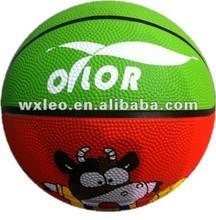 Indoor outdoor toy rubber basketballs