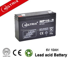 Factory 10ah 6 volt toy car batteries in Shenzhen