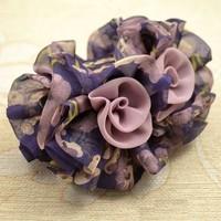 Hot-selling Fashion Hair Accessory Lavender Chiffon Cloth Large Gripper Hair Pin Hair Claws