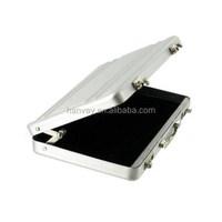 Luxury aluminum briefcase business card case, mini suitacase business card holder