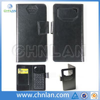 2014 Universal Mobile Phone Leather Case For 3.5 inch to 6.5 inch Universal Flip Wallet Case