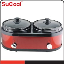 2X1.5L round Double-Crock Slow Cooker