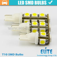 A036 10X Car White Red Blue Green Amber Pink Light 9 SMD5050 LED T10 W5W 147 555 194 Wedge Instrument Side Bulb Lamp DC 12V