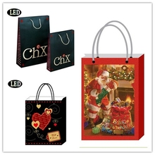 Fancy LED Lighted Christmas Gift Bags Wholesale