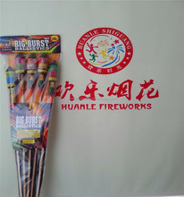 3'' 1.3G Rocket Fireworks bottle from Chinese factory assorted peony UN0335 fireworks rockets for new year