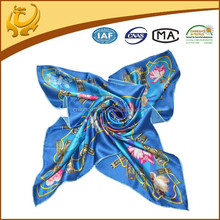 2015 New Design Flower Colorful Fashion Neckwear Silk Scarves Wholesale
