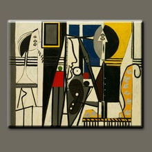 Handmade Picasso figure oil painting, The Painter And His Model
