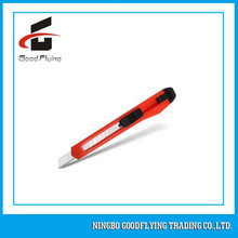 9mm Snap off Free Sample Plastic Pocket Safety Office Utility Cutter Knife made in china