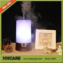 SOICARE SP-G07 electric scented oil diffuser, 120ML electric room diffuser, Glass+wood+pp electric diffuser for oils
