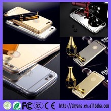 Luxury Newest Chrome Ultra Thin Hard Clear Aluminum Metal Bumper Mirror Phone Case For Iphone 4 4S