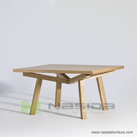 TL079 B ASH Solid wood base MDF board table top Sean Dix Forte Square Coffee Table