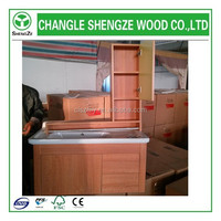 urgent sale wood plastic plate bathroom cabinet with lowest price