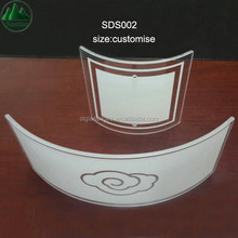 Ultra Thin 0.33mm 1mm 4mm Printing Hot Bend Curved Tempered Float Glass Panel for Electronic Components and Parts Accessories