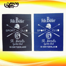 Supply brand name 100% polyester fabric woven labels /garment labels and tags for clothing