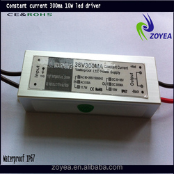 IP67 Waterproof constant current 36-48dc 10w led transformer