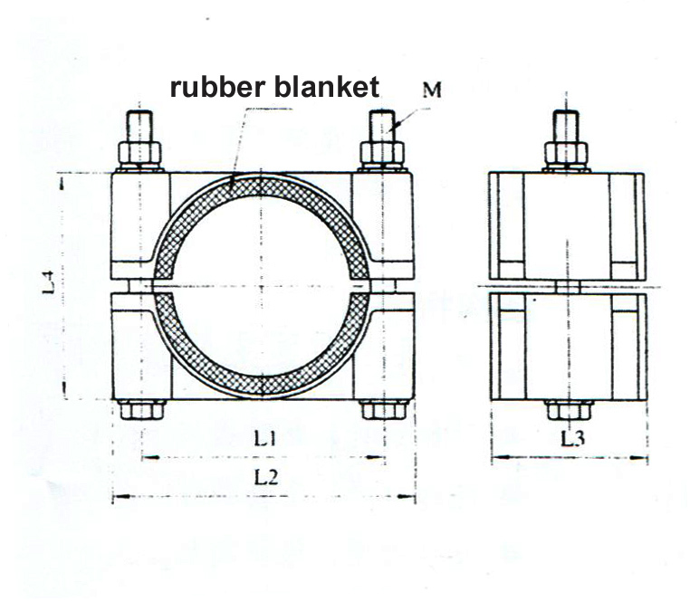high voltage cable fixed clamp  cable cleat