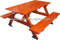 Factory direct sale outdoor wood picnic table