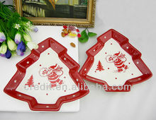 FCA120211-1H Christmas tree shaped ceramic dinner plate