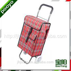 two wheel luggage trolley for promotion accent table