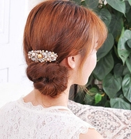 Korea diamond pearl hairpin hairpin cross clamp spring clip popular beautiful butterfly top clip