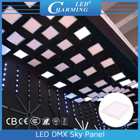 Madrix controlled DMX512 indoor RGB ceiling lighting LED sky panel lights
