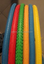 color bicycle tire