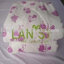 Applique Bamboo Fiber flowers Summer quilt
