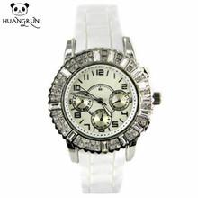 Promotion custom silicone waterproof fashion unisex rotary watches quartz