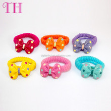 christmas hair accessories resin colorful bow design girls thick hair bands for kids