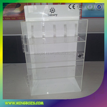 18 Years Experience Acrylic Clear Glass Watch Display Cabinet