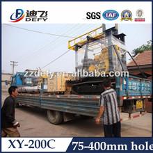 Hidráulica de las cadenas montado plataforma de perforación para pozos de agua, la exploración minera