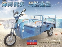 3 wheels electric tricycle /passenger and cargo double using / easy folding / popular in Southeast Asain