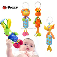 Soft Animal Windbell Rattles Bed Stroller plastic toy/kid toy