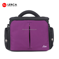 2014 Newest Violet Nylon bag for camera Fashion unique camera bags Professional trendy dslr camera bags