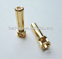 5mm bullet with flat-top with window -5mm golden bullet connector
