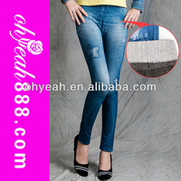 Popular Cheap Good Quality Flocking Legging Jeans Look Like Paypal accept