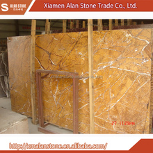 Wholesale From China Dark Yellow Tropical Brown Rainforest Marble