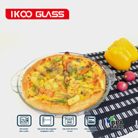 clear food grade large round glass pizza pan / round glass pizza plate/ round glass pizza dish