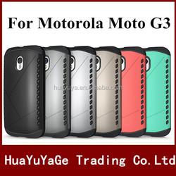 New Arrival phone cases Slim Armor Robot 2 in 1 Combo back cover Shield case for SamsungMotorola Moto G3