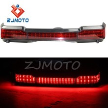 ZJMOTO LED Tail Running Brake Light Touring Trunk King Tour Pack Wrap Around