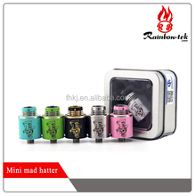 2015 Newest Arrival mini mad hatter rda /mad hatter mini for sale by Rainbow-tek